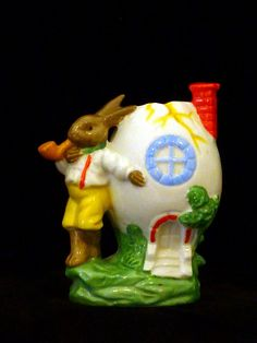 Antique Rabbit Smoking Pipe German Egg Cup by Lilacgate on Etsy, $24.99