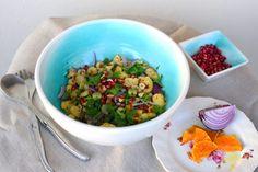 Chou-fleur rôti au four en salade