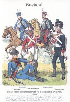 Band V #44.- England. Französische Emigranten-Truppen in englischen Diensten. 1795.