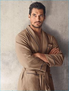 Hunter & Gatti photographs David Gandy in a robe from his Autograph line for Marks & Spencer.