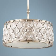 "Feiss Lucia Collection 18 1/2"" Wide Pendant Light"