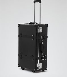 Mens Black Wheeled Suitcase - Reiss Gallivant - Good lookalike of the Globetrotter luggage