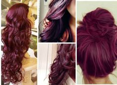 Would you wear plum hair color? What is the best plum hair dye? How would it look on dark hair? Here are plum hair color ideas for different skin tones and all the best shades to try. Plum Hair Dye, Purple Hair, Ombre Hair, Violet Hair, Red Purple, Black Plum, Red Plum, Love Hair, Gorgeous Hair