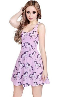 CowCow Purple Unicorn Seamless Sleeveless Skater Dress, Purple-S. 90% Polyester / 10% Spandex. Soft, stretchy, lightweight and quick dry fabric. Machine Washable. Available in XS, S, M, L, XL, 2XL and 3XL sizes.