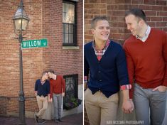 gay couples portraits on willow st in beacon hill