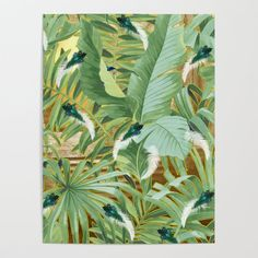 Golden Royal White and Blue-green Peacock Feathers Poster by justkidding #Poster #graphicdesign #leaves #peacockfeathers #green #darkgreen