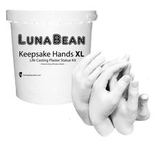 About the Casting Stone: We use a Gypsum Cement that dries to a pristine white, provides fine detail and is chip & chalk resistant. Luna Bean Keepsake Hands - XL- Plaster Statue Kit. Easy Step-by-Step Instructions : (1) Mix the molding powder with water. | eBay!