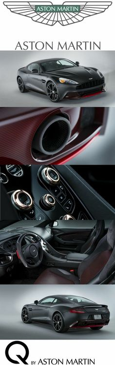 This Q by Aston Martin Vanquish Coupe designed for Pebble Beach Concours d'Elegance was inspired by aviation technology