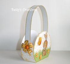 Bettys-creations: Ovales Körbchen mit Vorlage