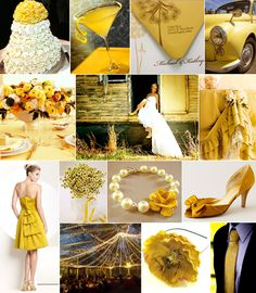 A Wedding in Mustard Shades of Yellow | Pixel & Ink