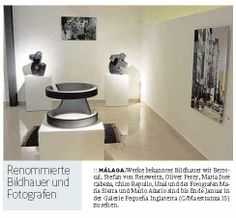 German Sur newspaper article about our sculpture and B&W exhibition