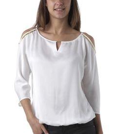 Blusa satinada crudo - Promod