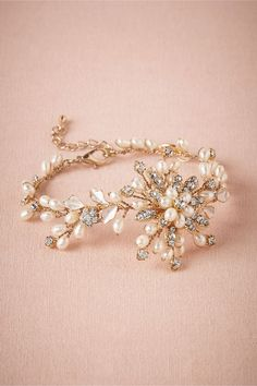 Pearl Bracelet by BHLDN. For the bride: it's your day to have fun with beautiful statement jewelry. I adore this bracelet and so will your guests.