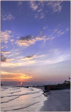Sullivans Island at sunset