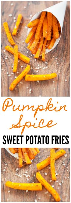 "If you've tried boring ol' sweet potato fries and thought, ""Those were good,"" then baby, these pumpkin spice sweet potatoes are about to set you on FIRE! Pumpkin Recipes, Fall Recipes, Great Recipes, Snack Recipes, Dinner Recipes, Favorite Recipes, Healthy Recipes, Amazing Recipes, Potato Recipes"