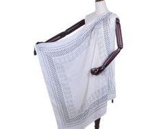 Elegantná dámska šatka s jedinečným ľudovým vzorom v bielo-modrej farbe Gym Bag, Bags, Fashion, Colors, Handbags, Moda, Fashion Styles, Fashion Illustrations, Bag