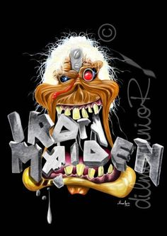Eddie the Head Bruce Dickinson, Iron Maiden, Rock And Roll Bands, Rock N Roll, Smiley Horror, Eddie The Head, Where Eagles Dare, The New Wave, Heavy Metal Bands