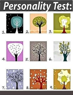 Look at the tree and choose the one that is immediately most appealing to you. Don't think about it too long, just choose, and find out what your choice says about your personality. write down your choice in the comments. What Your Personality Test Say's Find Here http://goo.gl/PtkqHb