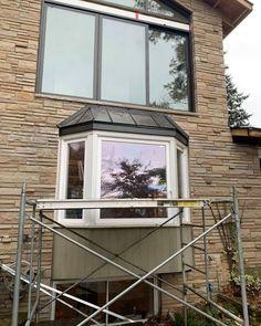 Copper Roof, Copper Metal, Cedar Roof, St Catharines, Bay Window, Ontario, Windows, Steel, Brown