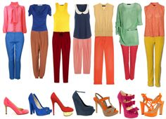 Beautiful #colour blocking combination outfits