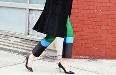 Celine color-blocked pants