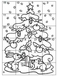 Omalovánka - adventní kalendář