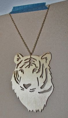 Tiger Necklace by sharkskeepmoving on Etsy.