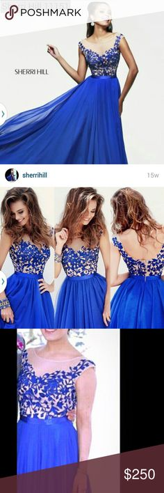 Royal blue prom dress Beautiful lace and satin royal blue prom dress. Worn only once to the prom by my daughter, paid $480 for it. Dresses Prom