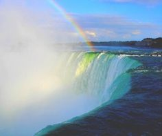 Niagara Falls.   Unbelievably powerful, and rainbows every day.