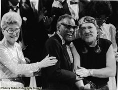 Ray Charles with Willie Nelson and Minnie Pearl in the 1980s.