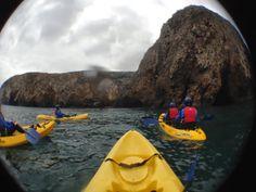 Island Adventures, Kayaking the Santa cruze sea caves.