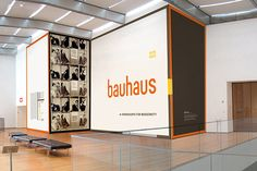 """Title design by MoMA's design department, for Bauhaus 1919-1933: Workshops for Modernity at MoMA, 2009 (top) in a bespoke typeface inspired by Herbert Bayer's design for """"universal"""" lettering, 1925 (also shown above)."""