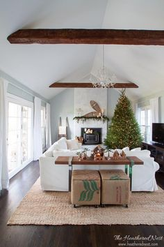 Attractive Simple, Classic Christmas Home Decor Ideas Holiday Home Tour