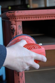 before and after basics: aging furniture with milk paint – Design*Sponge Paint Furniture, Furniture Projects, Furniture Makeover, Restoring Furniture, Furniture Direct, Funky Furniture, Furniture Layout, Furniture Design, Upcycled Crafts