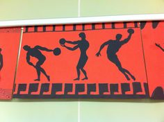 History Art Project: Silhouette of Greek Olympians  6th grade