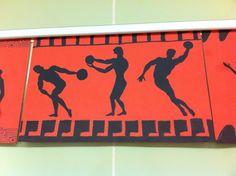 History Art Project: Silhouette of Greek Olympians  6th grade