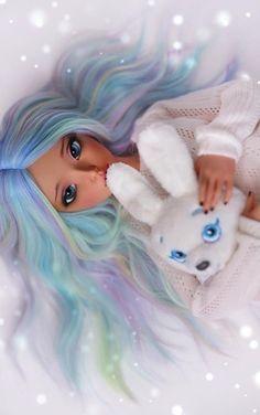 Anime Girl Drawings, Anime Art Girl, Cute Drawings, Beautiful Barbie Dolls, Pretty Dolls, Girl Cartoon, Cartoon Art, Ooak Dolls, Art Dolls