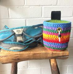 Rainbow Striped Chalk Bag by TheWattlebird on Etsy