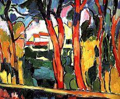 Vlaminck,''Paisaje de arboles rojos'', 1906