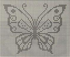 Patrones de ganchillo para imprimir: Fotos de diseños - Patrones de ganchillo para imprimir, mariposa