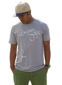 The Dreamer O'Shirt t-shirt for a cause. Grey t-shirt, trucker hat, typography tee