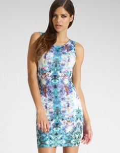 Kardashian Kollection For Lipsy bodycon dress featuring all over print and mini length. S/S14