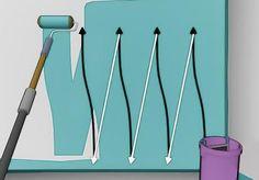 Trucos para pintar con rodillo y no dejar marcas | Hacer bricolaje es facilisimo.com House Painting Tips, Diy Wall Painting, Creative Walls, Paint Colors For Home, Home Repairs, Recycled Furniture, Decorating Tools, Diy Hacks, Home Improvement Projects