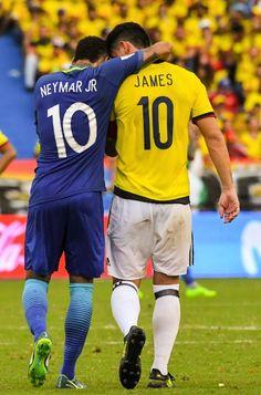 neymar and james