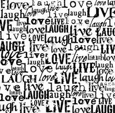 Black and White Scrapbook Paper | Canvas Corp - Black and White Collection - 12 x 12 Paper - Live Love ...