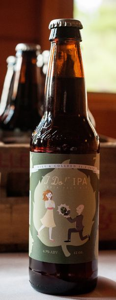 "We could make labels for toms home brew! Wedding Favor: Homebrewed Beer (""I Do"" IPA!) Gil would love this"