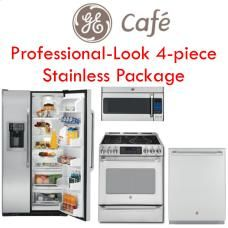 GE Cafe appliances (replace with counter depth french door fridge and wall mounted micro)