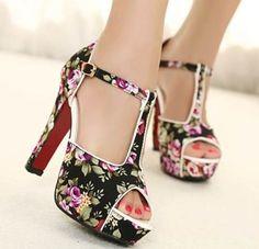 #Flores   Zapatos y carteras   Pinterest   Moda, Primavera y Zapatos