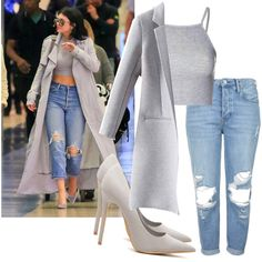 A fashion look from November 2015 featuring Glamorous tops and Topshop jeans. Browse and shop related looks.