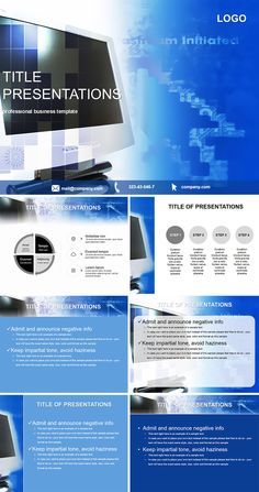 Monitor for job PowerPoint templates
